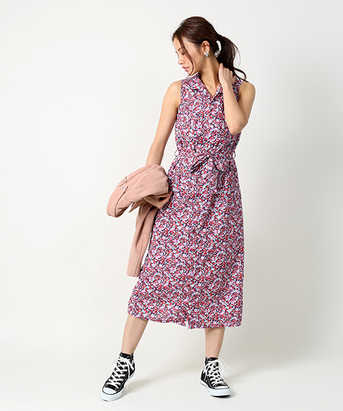 FWK ENGINEERED GARMENTS Classic Shirt Dress-Small Floral Lawn