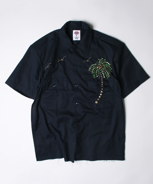 HTC×DICKIES×FREAK'S STORE 【Begin4月号掲載】PALM TREE SHIRTS 【予約商品/送料無料】