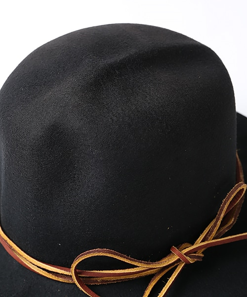 CRUSHABLE LEISURE HAT W/LEATHER
