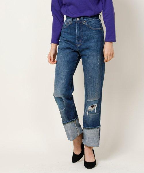 1950s 701 jeans damage