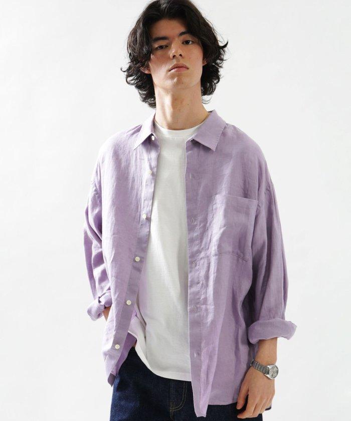 リネンビッグシャツ/ビッグシルエット シャツ