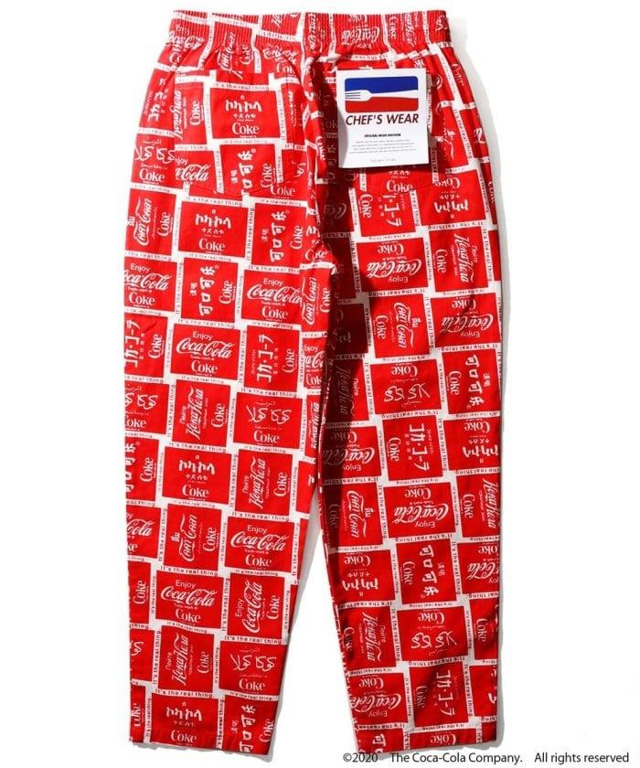 「コカ・コーラ」シェフパンツ/バギーパンツ/「coca-cola」chef pants
