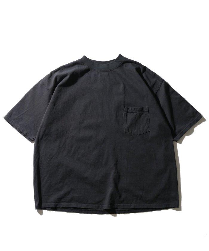 別注ビッグシルエット ハイネックポケットTシャツ