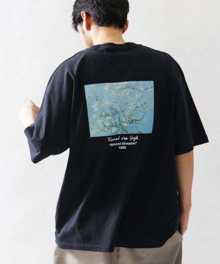 別注ART Tシャツ ALMOND FLOWER /アートTシャツ/アーモンドフラワー