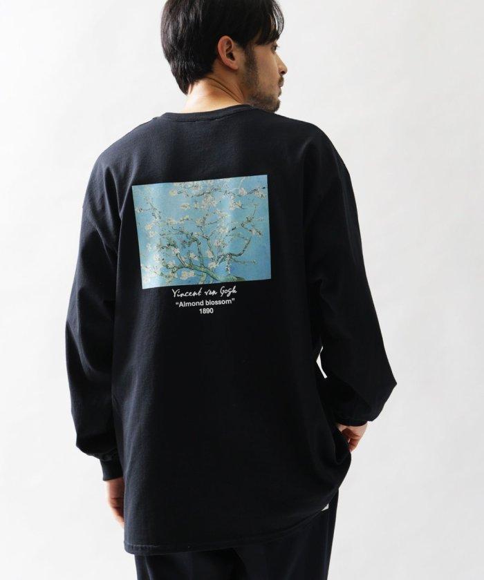 """別注ART ロングスリーブTシャツ """"ALMOND FLOWER""""/アート ロンT/ローモンドフラワー"""
