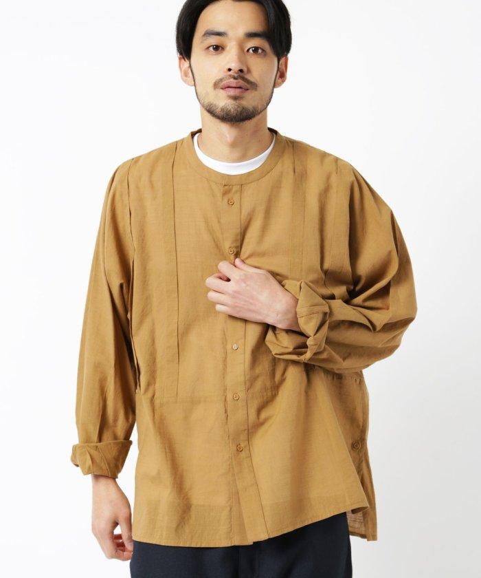 インド綿 バンドカラーシャツ/BAND COLLAR SHIRT