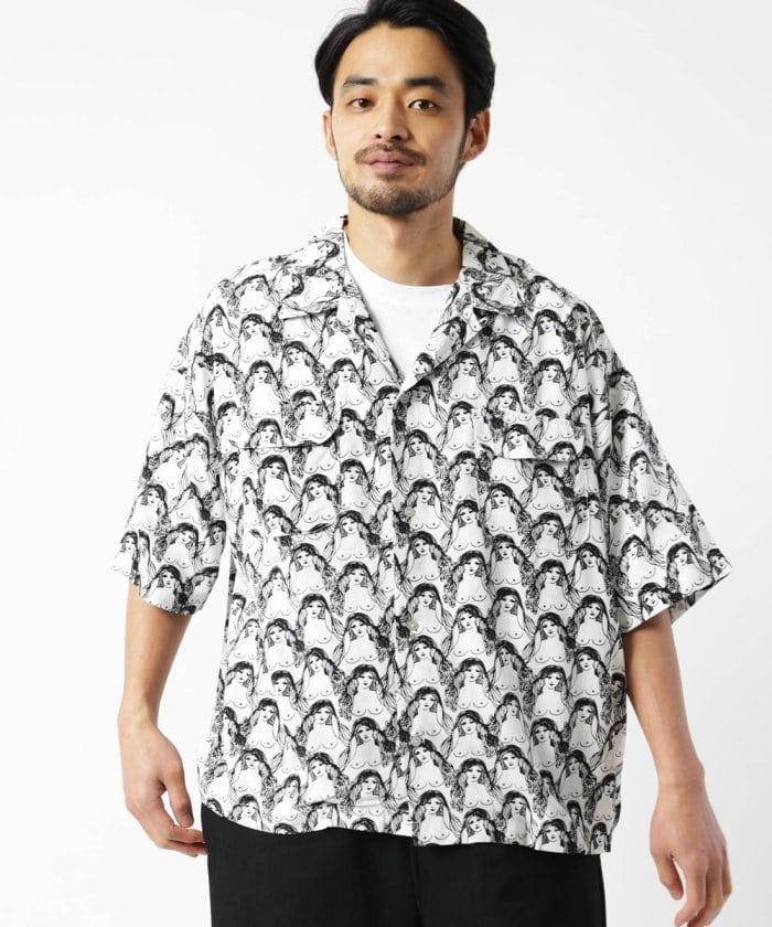別注OPPAI IPPAI SHIRT/オープンカラーシャツ