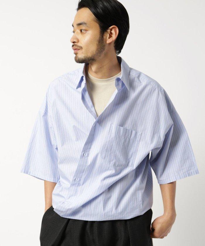 ビッグシルエット タイプライターS/Sシャツ/半袖シャツ