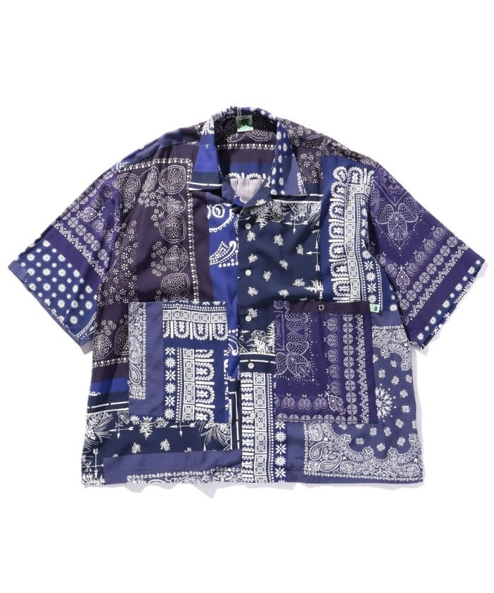 BIG SILHOUETTE BANDANA SHIRT / オープンカラーバンダナシャツ