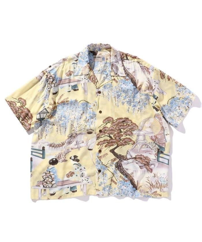 別注 Aloha Shirt 和柄 / アロハシャツ オープンカラー 総柄 シャツ