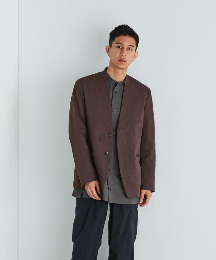 Tec Chino No Collar Jacket/テックチノ ノーカラージャケット