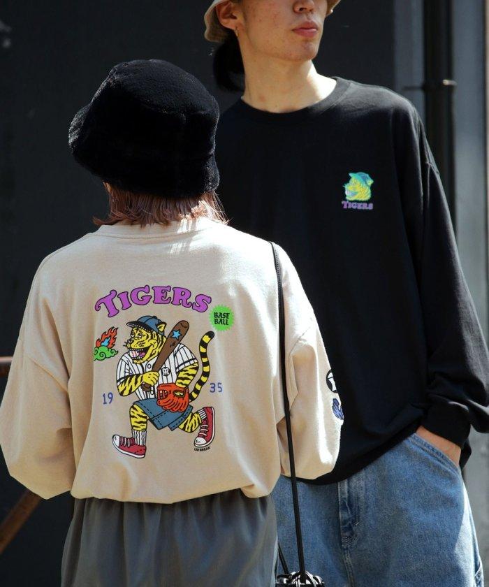 別注TIGERS バックプリントシャツ