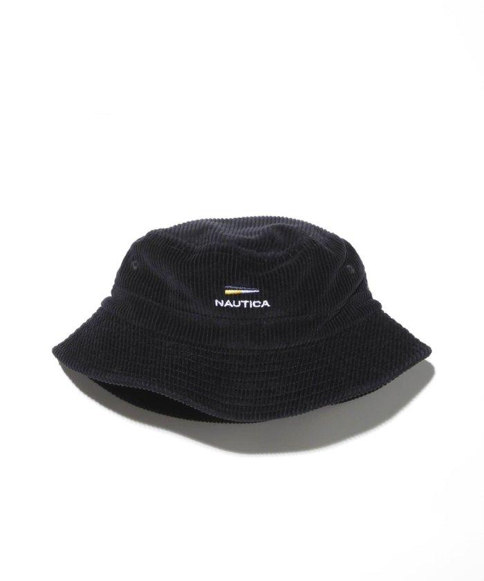 "Wide Wale Corduroy Bucket Hat ""Flag"""
