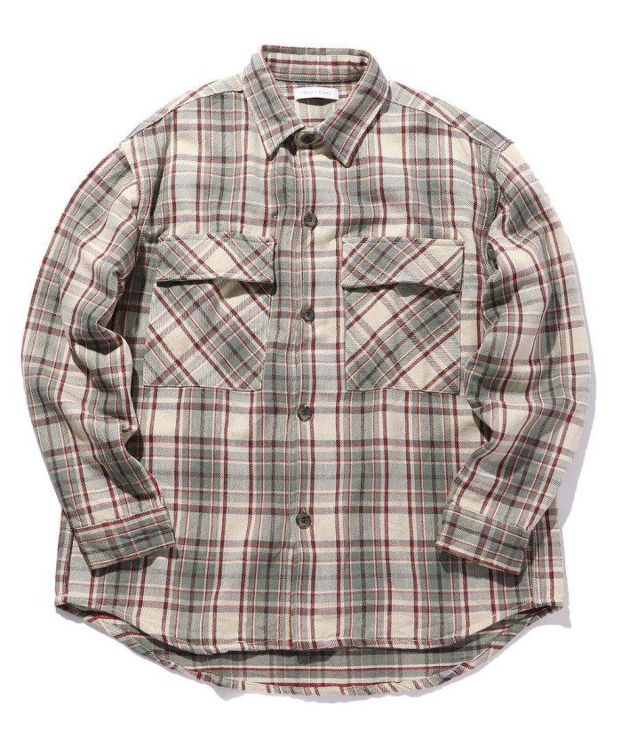 インド綿 ビックシルエット チェックシャツ