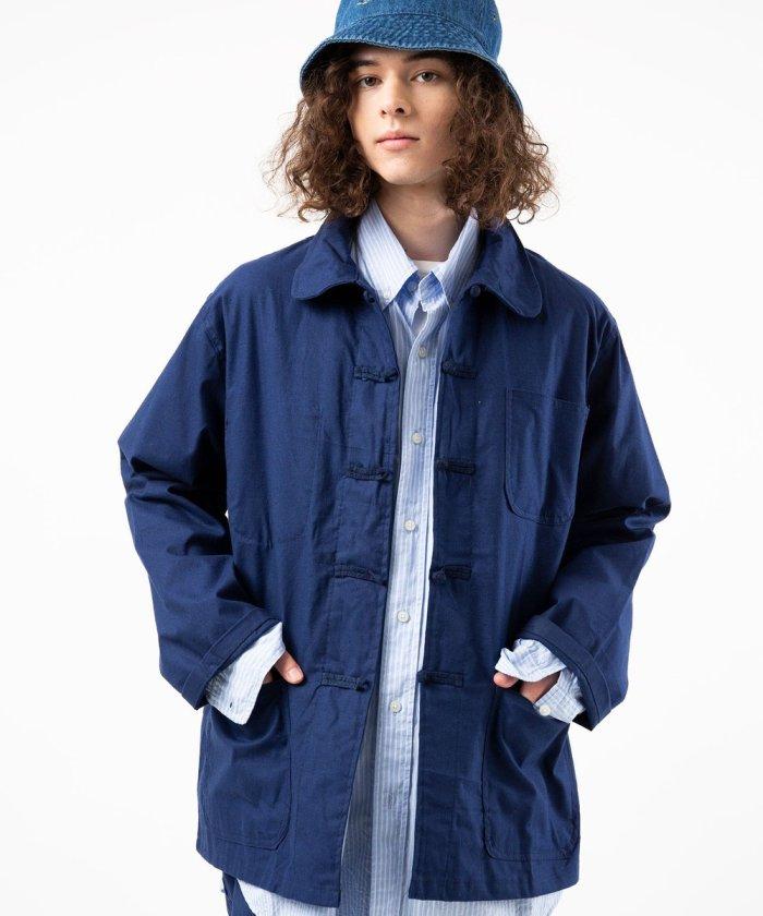 オーバーサイズ チャイナシャツジャケット