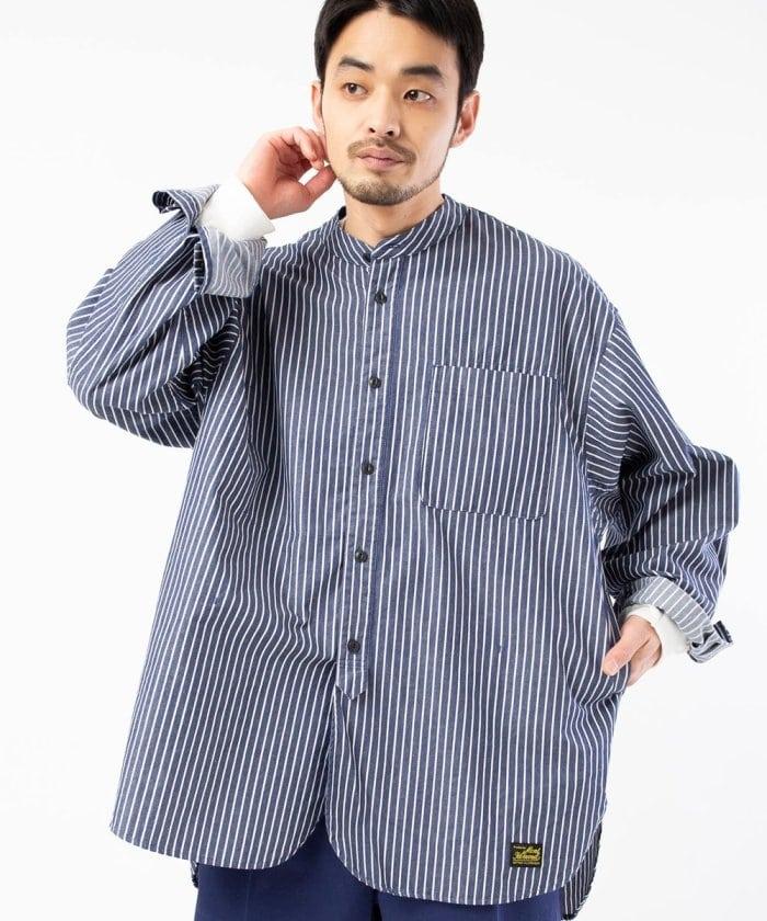 別注 グランパシャツ/バンドカラーシャツ/スタンドカラーシャツ