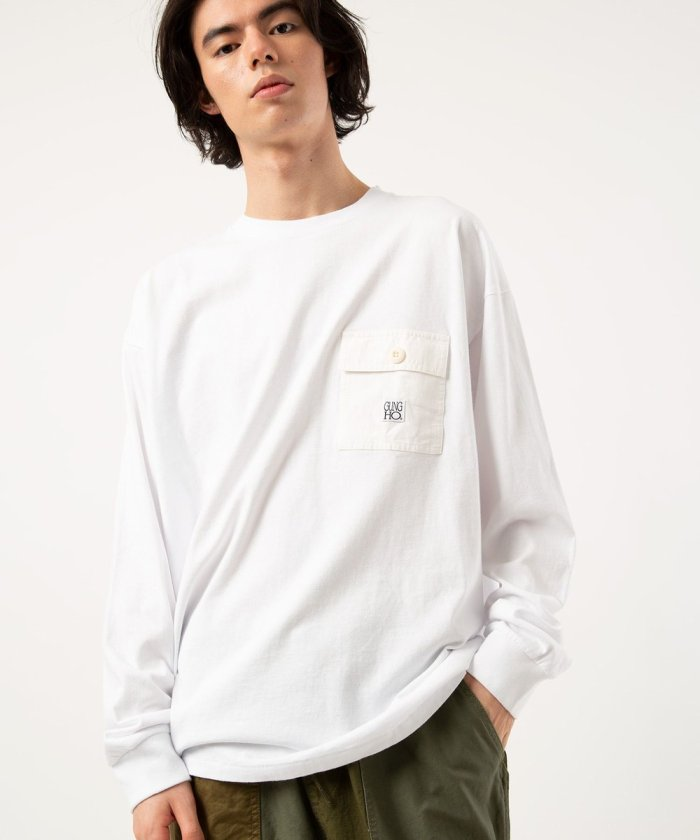 SPECIAL POCKET LONG SLEEVE T-SHIRT/別注 ポケットロング スリーブ Tシャツ