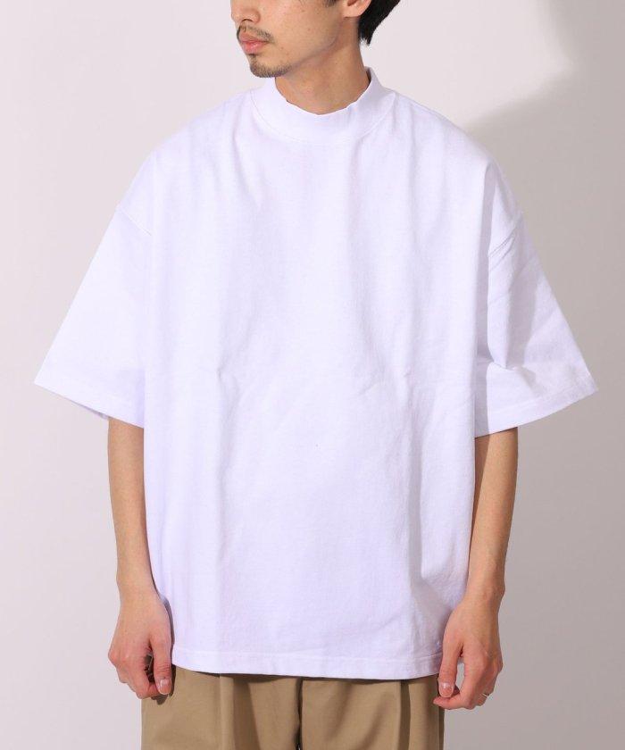 ビッグシルエット マックスウェイト モックネックTシャツ/オーバーサイズ【WEB限定】