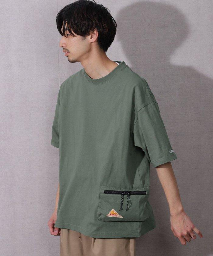 別注 サイドポケット クルーネックTシャツ/ビッグシルエット【WEB限定】