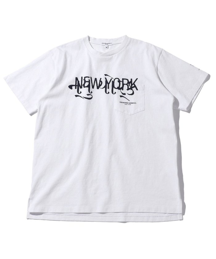 PRINTED CROSS CREW NECK T-SHIRT - New York