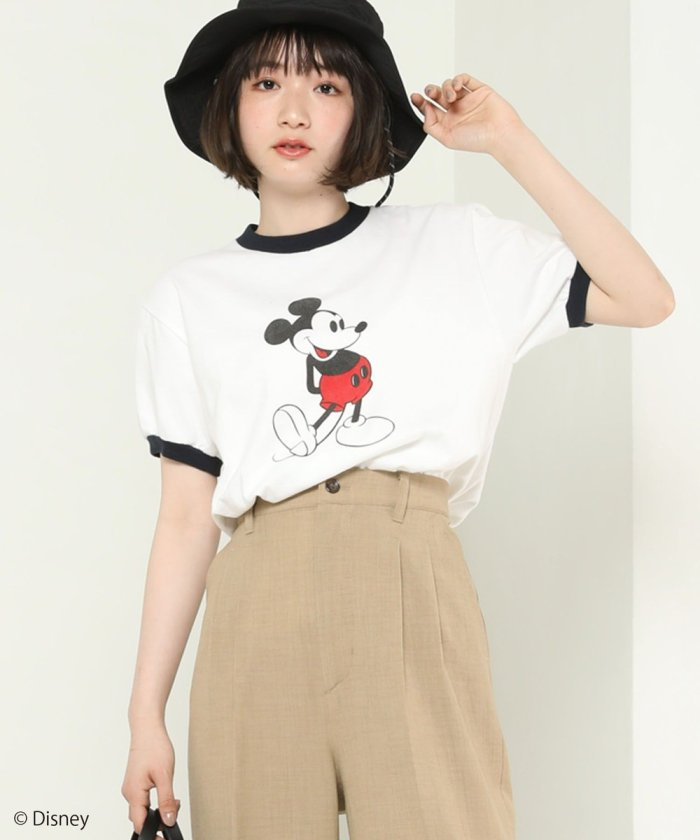 MICKEYリンガーTシャツ