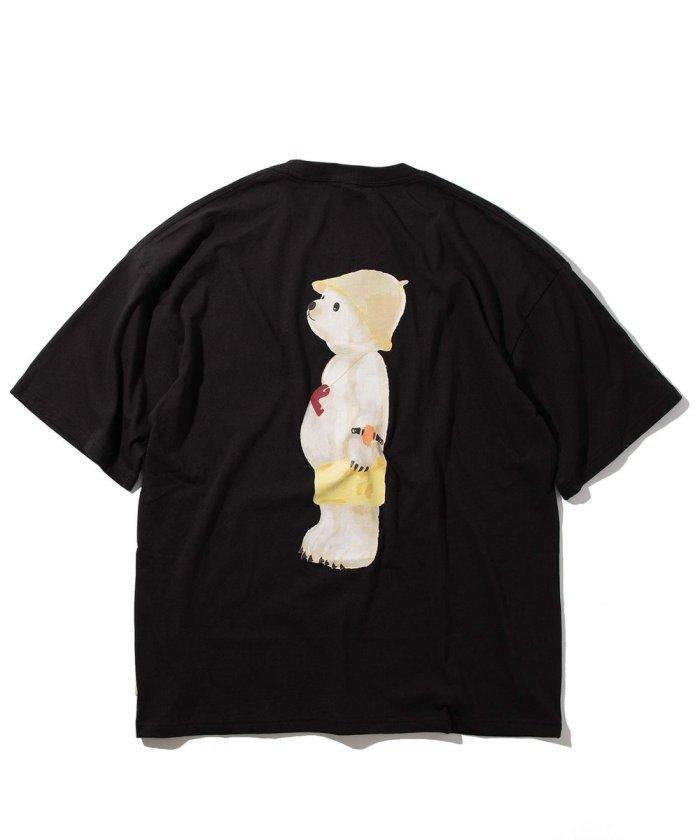 サウナベアー バックロゴTシャツ/ロゴ刺繍