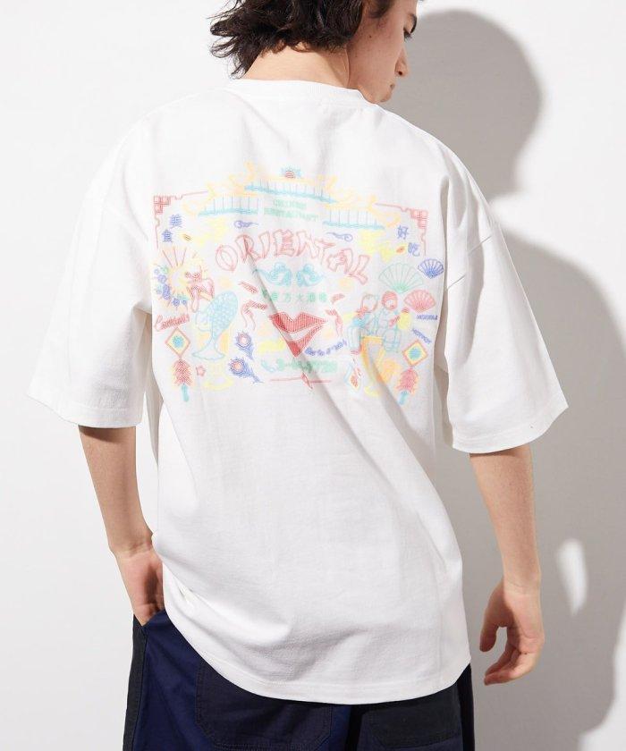 NEON SIGN SHORT SLEEVE T-SHIRT ORIENTAL/ネオンサイン 半袖 Tシャツ オリエンタル/バックプリント イラスト