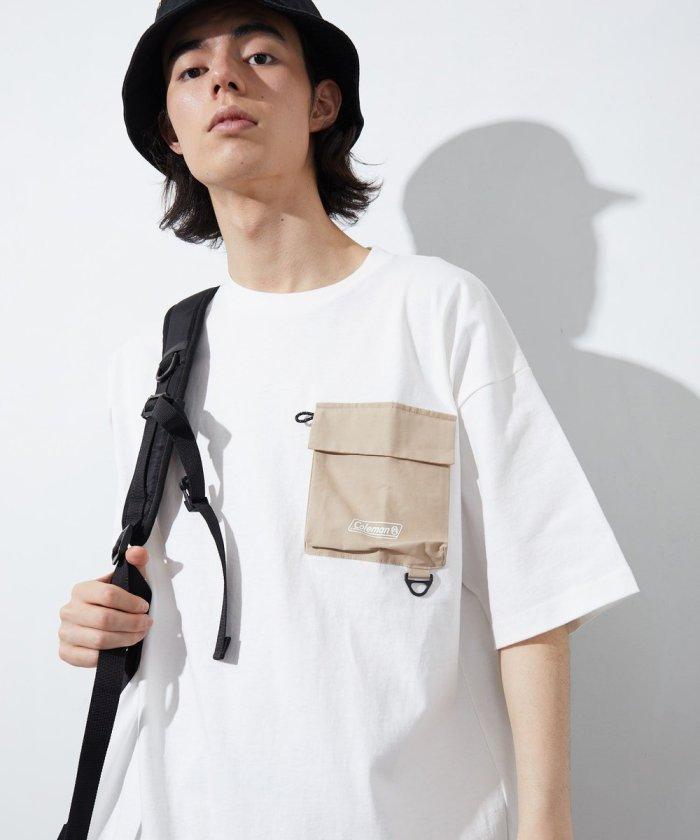 ワンポイントロゴ ナイロンポケットTシャツ