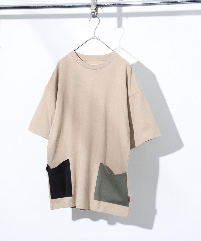 サイド ダブル ポケット Tシャツ