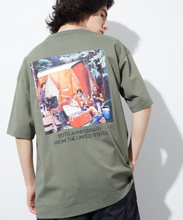 ポスター バックプリント Tシャツ