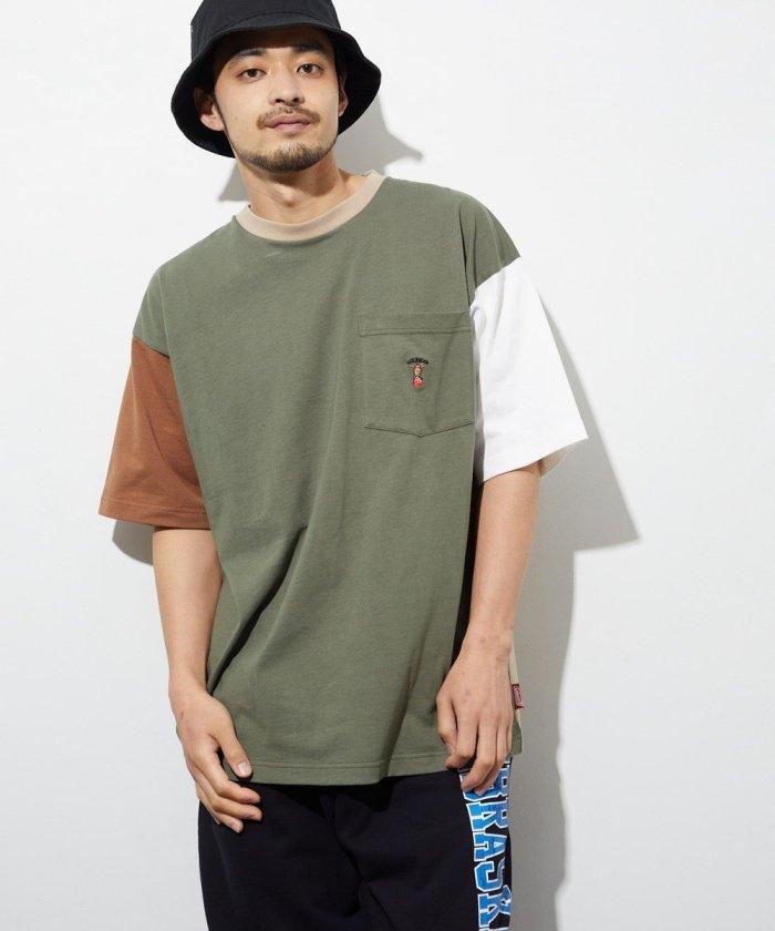 LID BREAK ランタン刺繍 ポケット Tシャツ