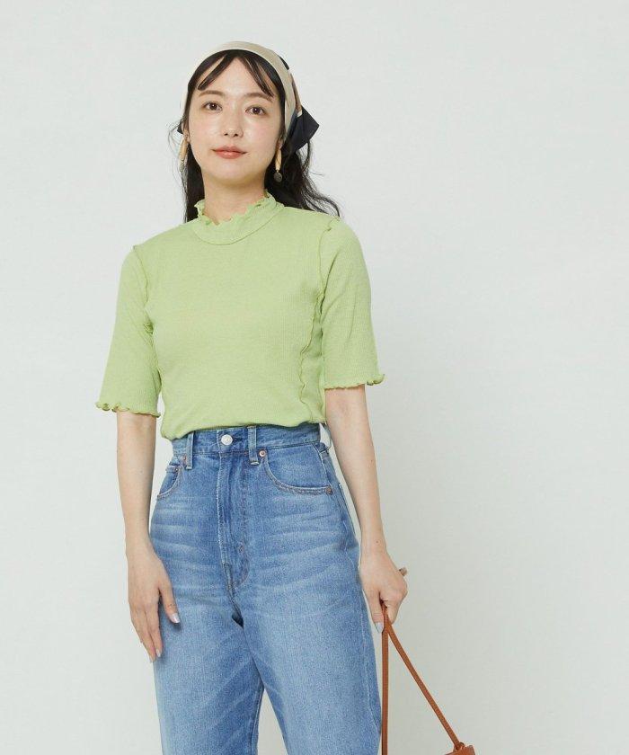 シアーメロー5分袖Tシャツ