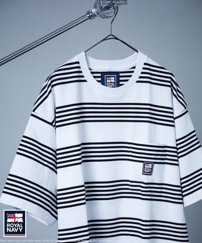 ONE POINT ROGO BORDER SHORT SLEEVE T-SHIRT/ワンポイント ロゴ ボーダー ショート スリーブ Tシャツ