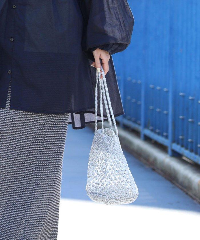 コード編みバッグ