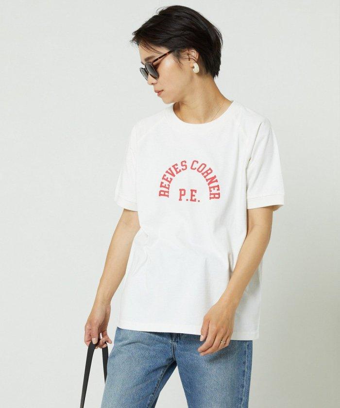 プリントロゴラグランTシャツ