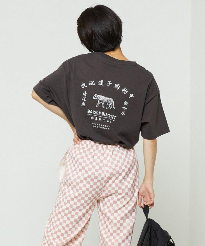 チャイナロゴ5分袖Tシャツ