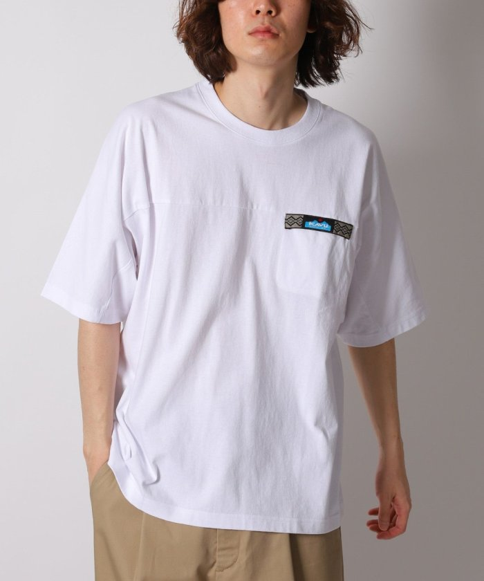 別注 ビッグシルエット ウェビングテープ ポケットTシャツ【WEB限定】