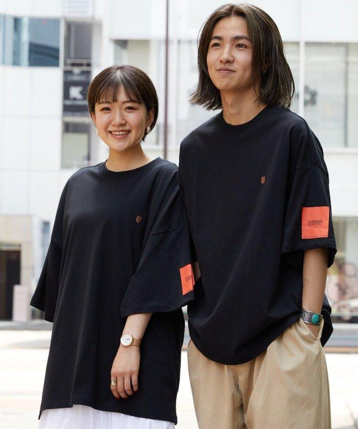 別注 袖プリント ワンポイント ネームロゴ Tシャツ