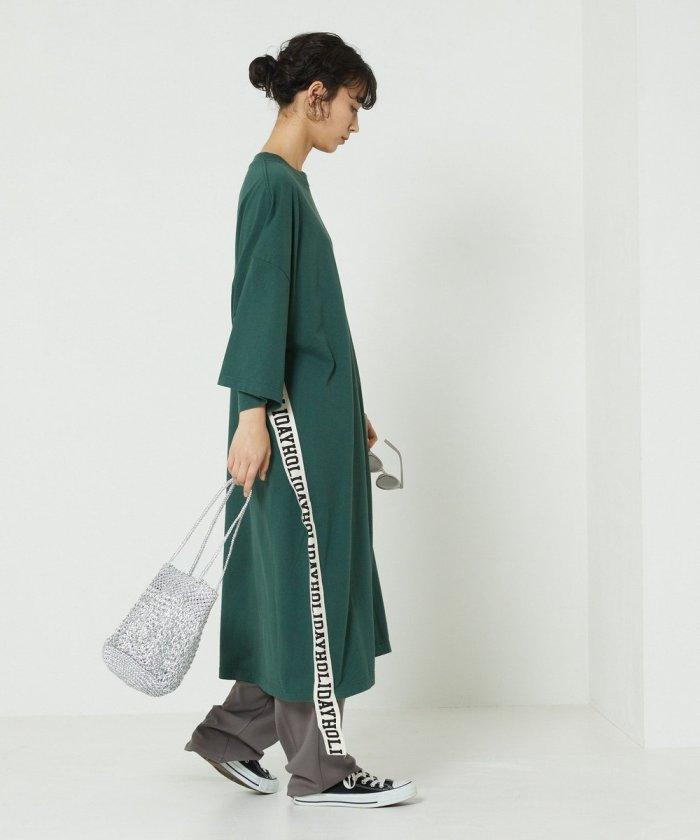 SUPER FINE DRY SHORT SLEEVE LONG DRESS