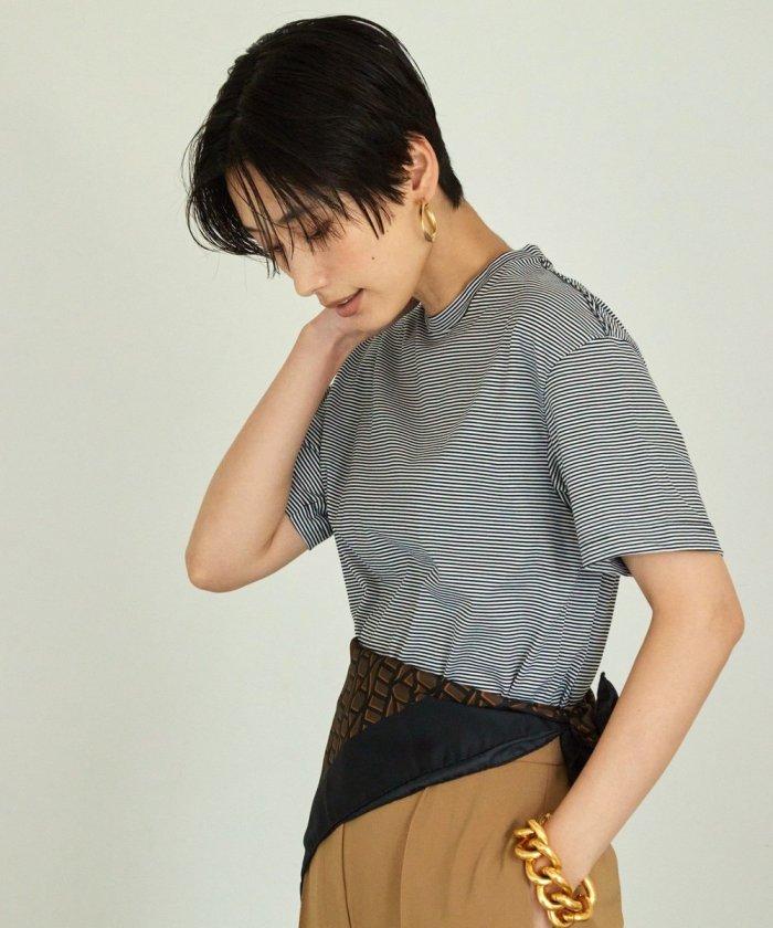 コンパクトボーダーTシャツ