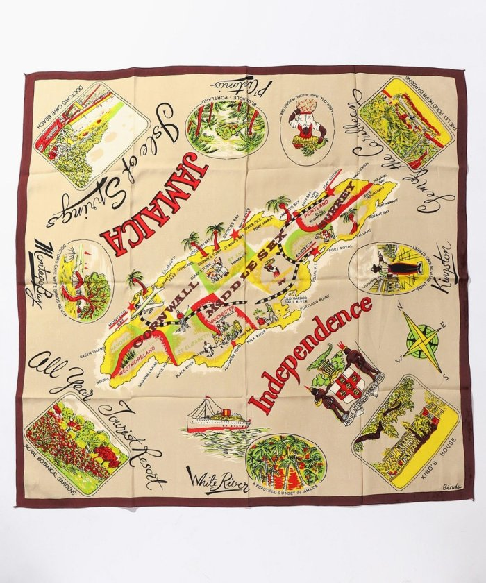 Jamaica Map Scarf