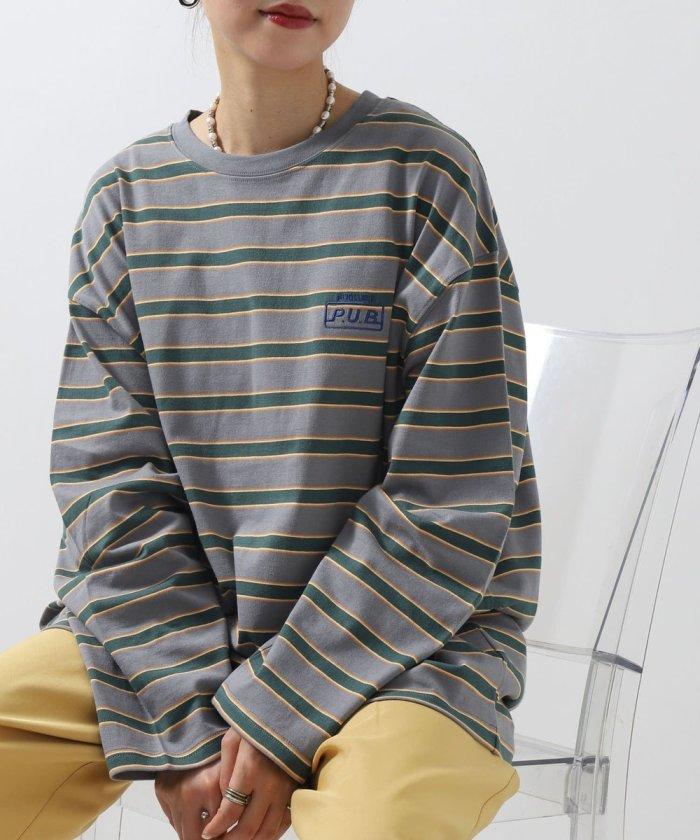 別注ロゴ刺繍ボーダーロングTシャツ【WEB限定】【一部予約商品】