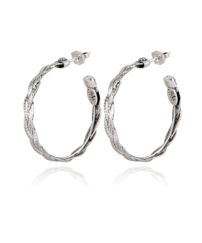 Tresse hoop earrings