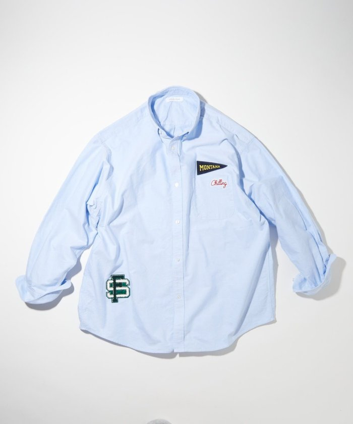 カレッジ刺繍ワッペン オックスフォード BDシャツ