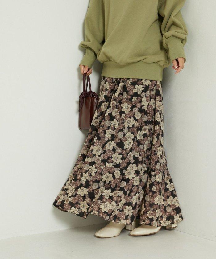 ヴィンテージフラワーマキシスカート
