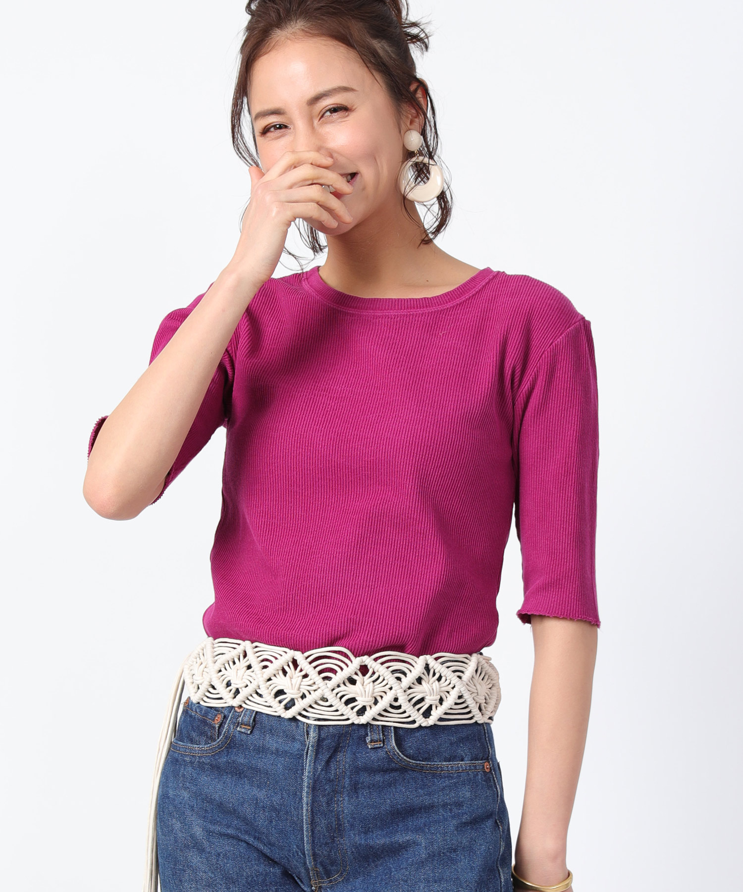 R Jubilee  RIB BACKBUTTON TEE